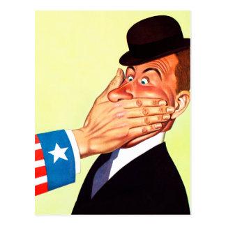 Vintage Kitsch USA Censorship Patriotism Postcard