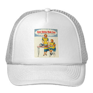 Vintage Kitsch Woman Baking Home Baking Made Easy Trucker Hat