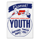 Vintage Kitsch Youth Exposed Tattered! Shattered! Card