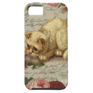 Vintage kitten case for the iPhone 5