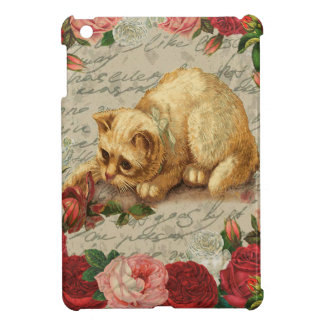 Vintage kitten cover for the iPad mini
