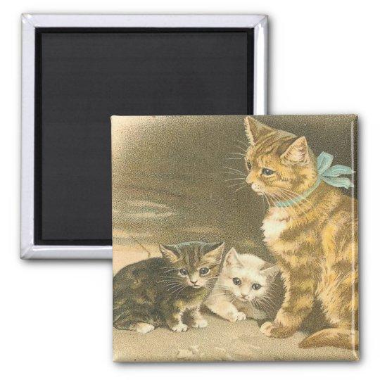 Vintage Kitten Magnet