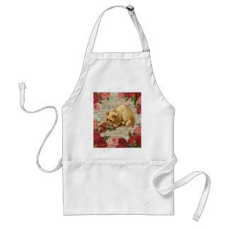 Vintage kitten standard apron