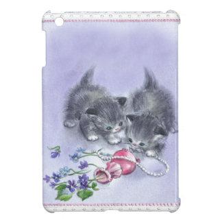 Vintage Kittens Antique Pearls iPad Mini Case