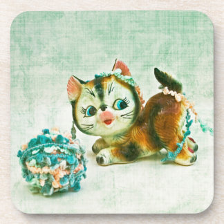 Vintage Kitty Cat Beverage Coaster