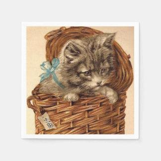 Vintage Kitty fun paper napkins Paper Napkin