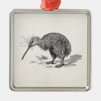 Vintage Kiwi Bird Antique Birds Template Metal Ornament