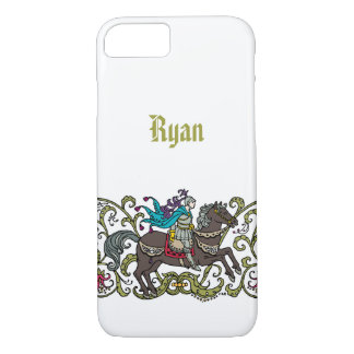 Vintage Knight Personalized iPhone 7 Case