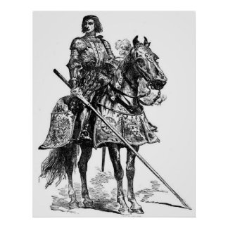 Vintage - Knight's Armour & Lance - Middle Ages Poster