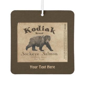 Vintage Kodiak Salmon Label Car Air Freshener