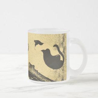 Vintage Korean Cat Art Coffee Mug