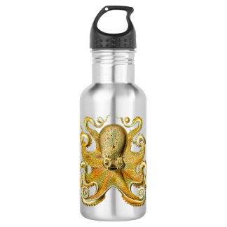 Vintage Kraken, Giant Octopus by Ernst Haeckel 532 Ml Water Bottle