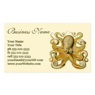 Vintage Kraken, Octopus Gamochonia, Ernst Haeckel Pack Of Standard Business Cards