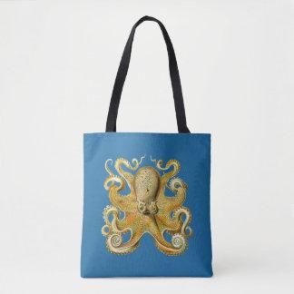 Vintage Kraken, Octopus Gamochonia, Ernst Haeckel Tote Bag