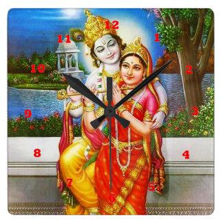 VINTAGE Krishna India Canada Square Wall Clock