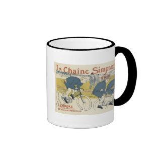 Vintage La Chaine Simpson Ringer Mug