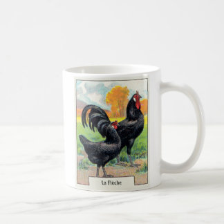 Vintage La Fleche Chicken Coffee Mug