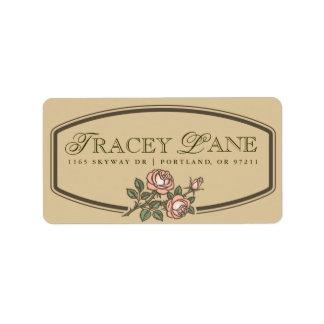 Vintage Label Address Label