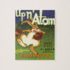 Vintage Label Art Boxing Rabbit, Up n Atom Carrots Jigsaw Puzzle