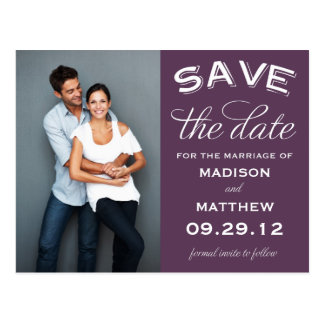VINTAGE LABEL | SAVE THE DATE ANNOUNCEMENT POSTCARD