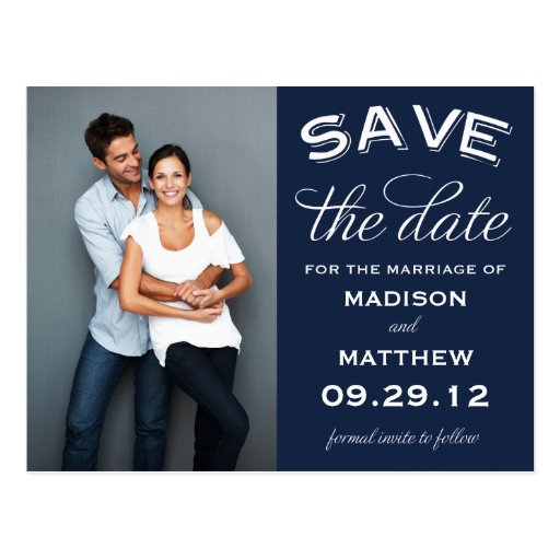 VINTAGE LABEL | SAVE THE DATE ANNOUNCEMENT POST CARD