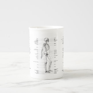 Vintage - Labeled Skeleton - Front, back & Side Tea Cup