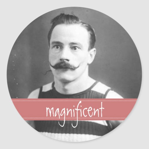 Vintage Labels Mustache / Moustache Incentive Stickers