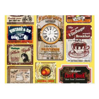 Vintage Labels Postcards