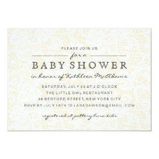 Vintage Lace Baby Shower Invitation