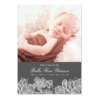 Vintage Lace Birth Announcements