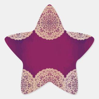 vintage,lace,burgundy,beige,grunge,elegant,chic, star sticker