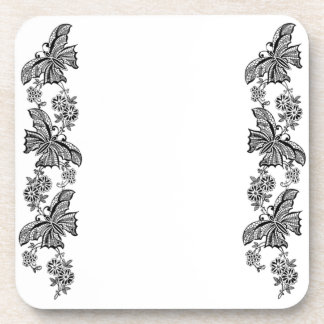 Vintage Lace Butterflies Butterfly Cork Coasters