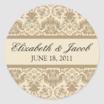 Vintage Lace Champagne/Ivory Sticker