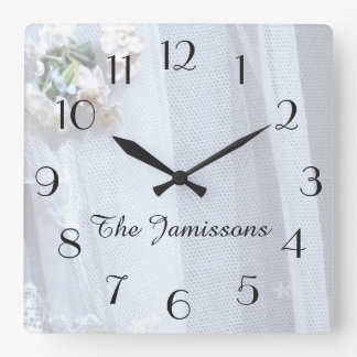 Vintage Lace, Clock, Personalized Clock
