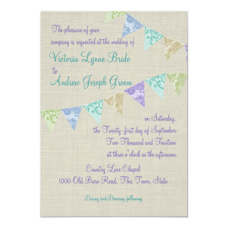 Vintage Lace Country Fair Pennants Card