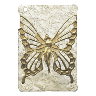 Vintage Lace & Gold Butterfly Angel iPad Mini Cases