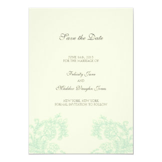 Vintage Lace   Grayed Jade   Save the Date Card