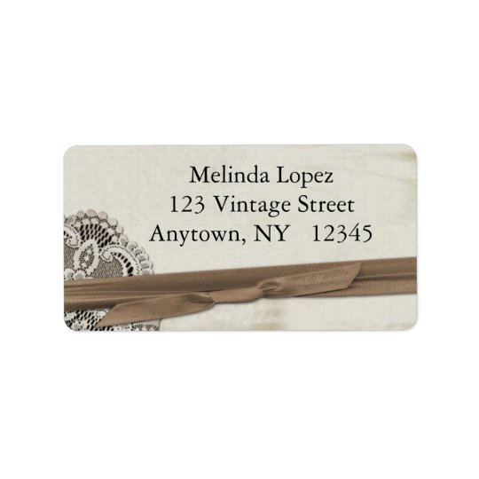 Vintage Lace Label Address Label