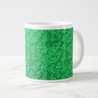 Vintage Lace Leaf Floral Green Jumbo Mugs