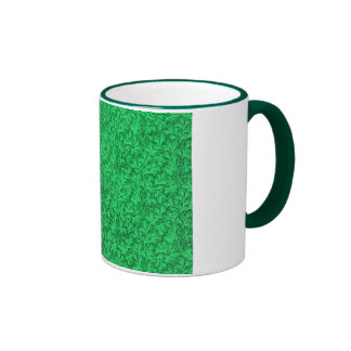 Vintage Lace Leaf Green Coffee Mug