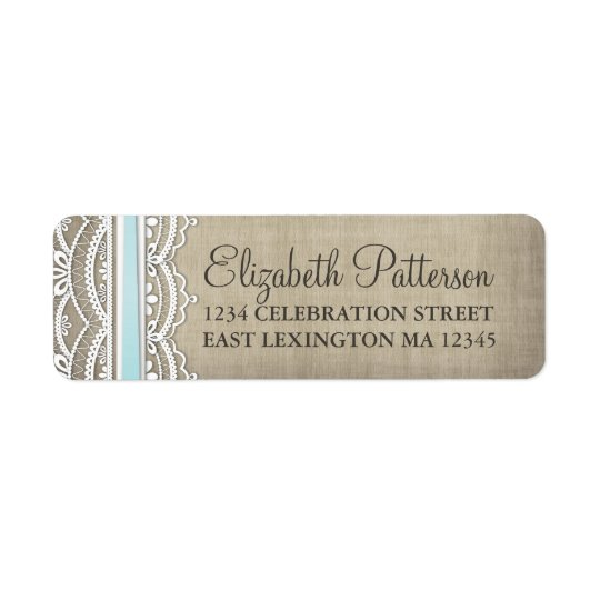Vintage Lace & Linen Rustic Elegance Address Label
