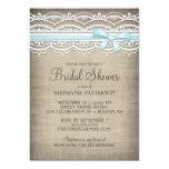 Vintage Lace & Linen Rustic Elegance Bridal Shower Announcements