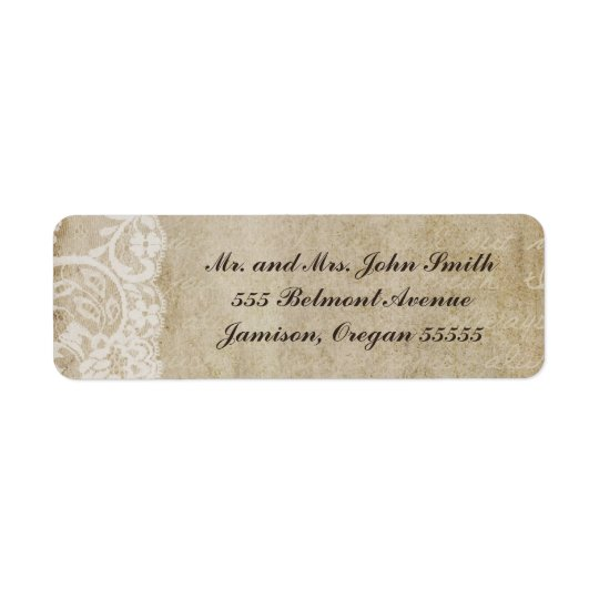 Vintage Lace Old World Return Address Labels