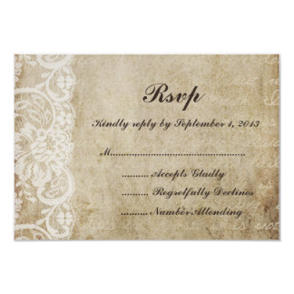 Vintage Lace Old World RSVP Card