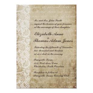 Old world wedding invitations zazzle vintage lace old world wedding invitation stopboris Choice Image