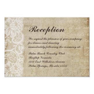 Vintage Lace Old World Wedding Reception Card 9 Cm X 13 Cm Invitation Card