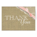 Vintage Lace Pink Baby Shower Thank you Note Card