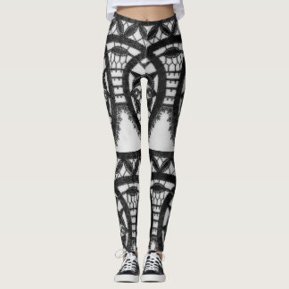Vintage Lace Print Leggings