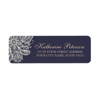 Vintage Lace Return Address Label
