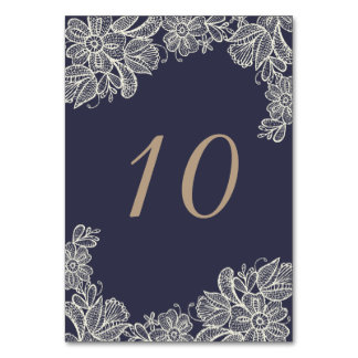 Vintage Lace Table Number Table Cards
